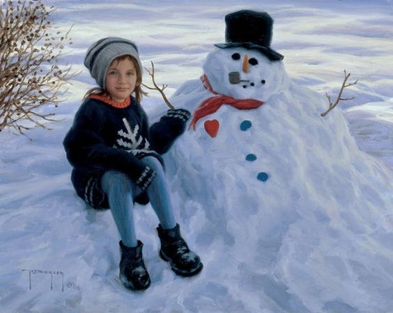 """My Fat Snowman"" (2006), by American artist - Robert Duncan (1952 - )"