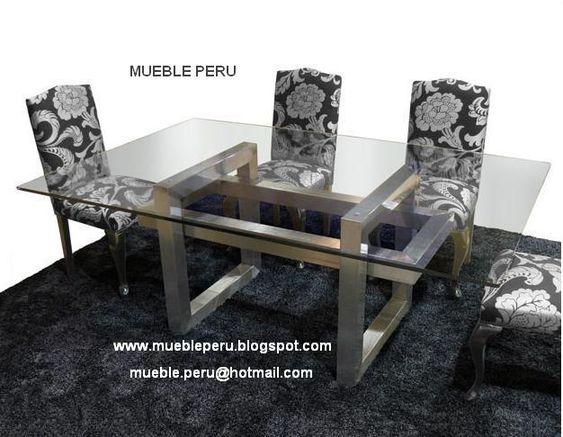 Hermoso comedor diana con moderna mesa de acero y for Sillas comedor natuzzi