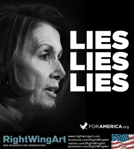Image result for Pelosi Lies