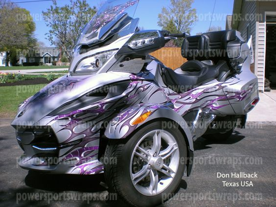 Can am Spyder RT custom graphics / Wrap, Spyder RT, RS, RSS decal ...