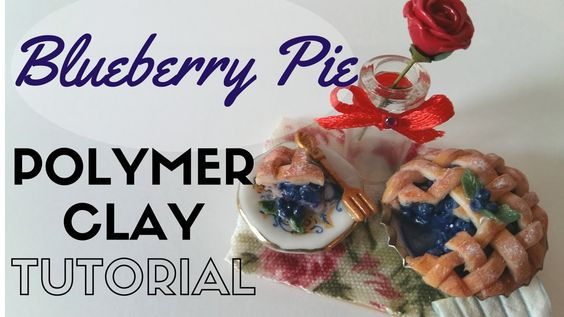 TUTORIAL: MINIATURE BLUEBERRY PIE/Crostata di Mirtilli in Polymerclay