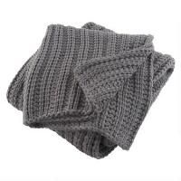Chunky Knit Throw Dk Grey