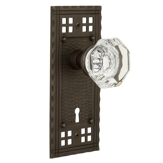 Craftsman Plate and Waldorf Crystal Knob