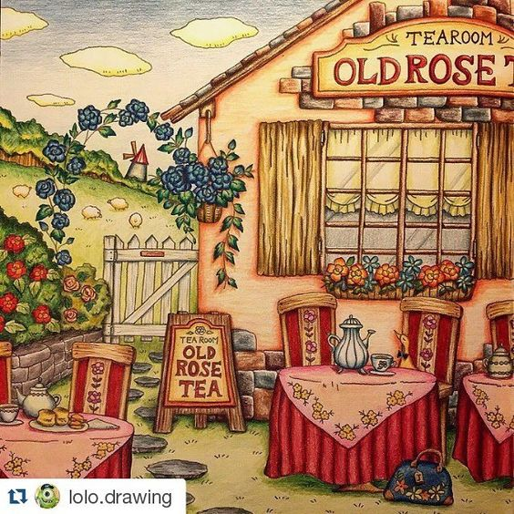 Romantic Country Coloring Book Book One The Artist Is