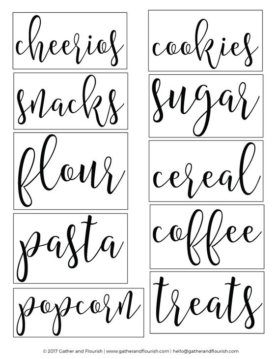 Free Printable Pantry Labels Gather And Flourish Free Pantry Labels Pantry Labels Kitchen Labels
