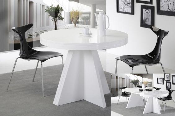 Mesa ovalada peque a muy extensible mesas de comedor for Mesa comedor pequena