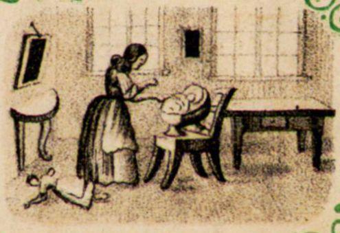 Illustration zu: Der kleine Kinderfreund : mit 76 Bildern in Tondruck. H. Müller-Schmid, Glarus (Schweiz), [1860?]  2. Die Puppe  AuthorAnonymous