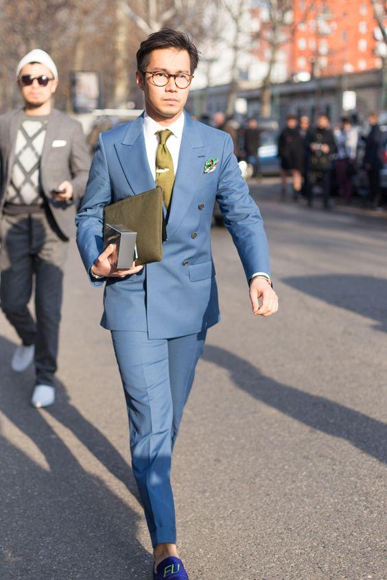 Milan Fashion Week - Blue