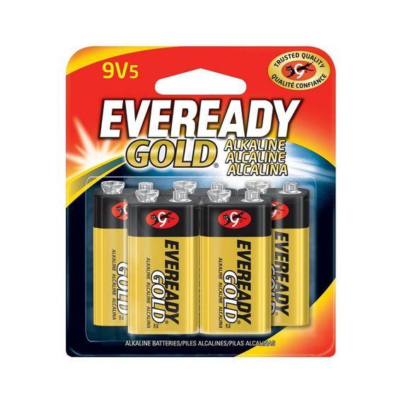 Eveready Gold 5pk Alkaline Batteries 9v 5 Alkaline Battery Alkaline Batteries