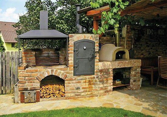 Outdoor Bbq Oven Construction In 2020 Outdoor Bbq Outdoor Oven Outdoor Kitchen Design