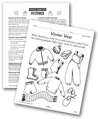 preschool winter worksheets printables | Preschool-Kindergarten ...