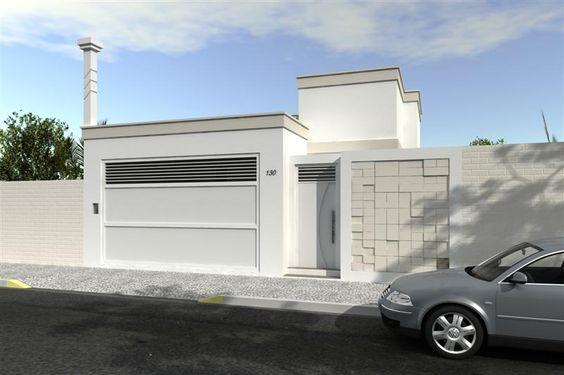 27 modelos de frentes de casas simples e modernas simple for Modelos de casa pequenas para construir