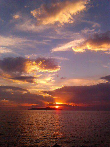 Sunset over Prince Islands-Istanbul-Turkey