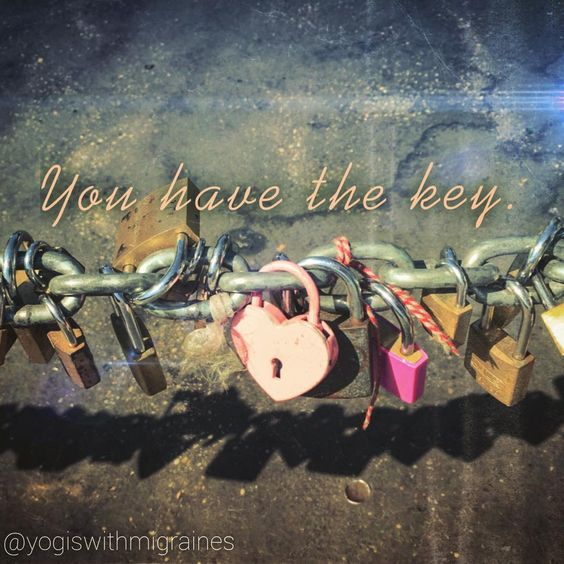 Each of us own the key to unlock our own hearts!
