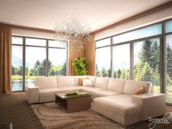 Luminosas y acogedoras salas de estar modernas para la for Sala de estar y comedor