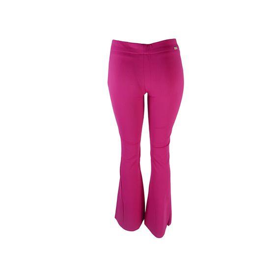 MacroVirtual - Calça Flare Opaco Pink Iódice Denim