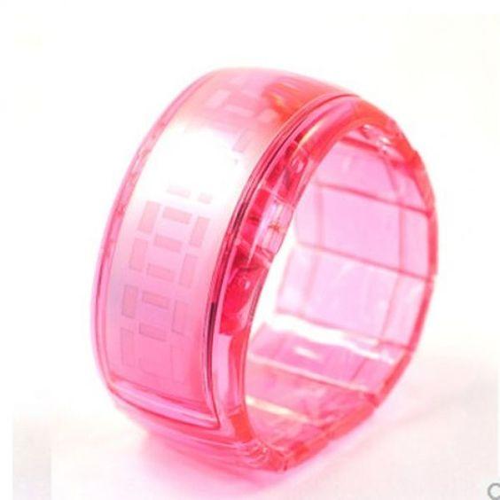 Men Women Sport Digital Bracelet Wrist Watch Pink