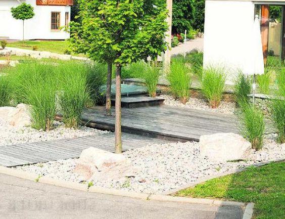 Kiesbeet Modern Anlegen|gartengestaltung Mit Steinen Und Grsern ... Gartengestaltung Mit Steinen Und Grsern Modern
