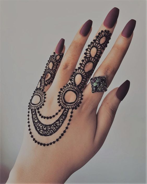 Simple Finger Mehndi Designs to Get a Minimalistic Yet Beautiful Bridal Mehndi