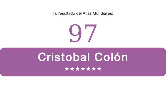 ¡Saqué  97【Cristobal Colón】  en el Test de Geografía Mundial!