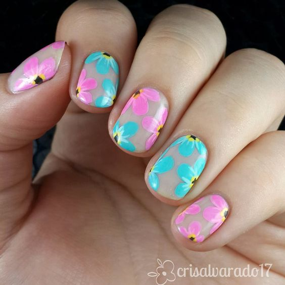 Nail It  Negative Space Flowers