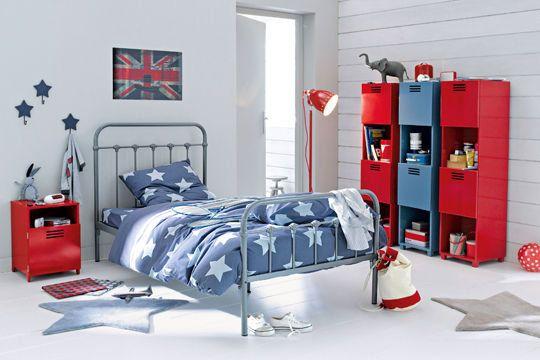 Chambre ado style industriel moderne color deco - Chambre ado style industriel ...