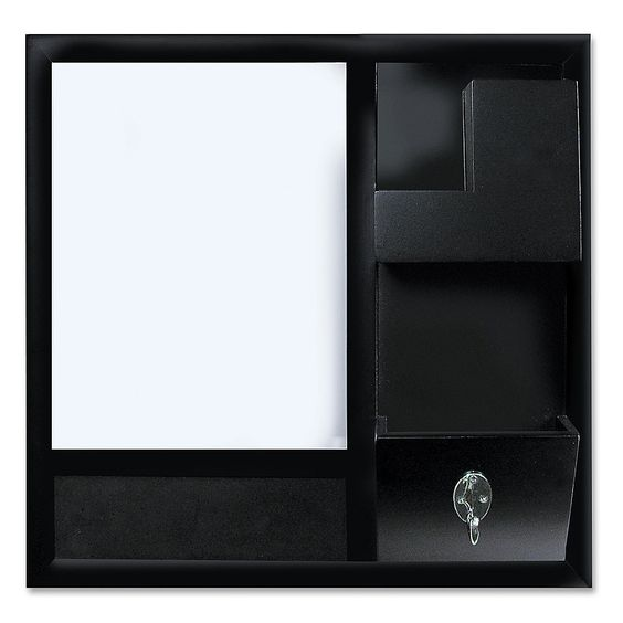 For the Command Station - Bi silque Cubicle Combo Slider 12 x 12 Black by Office Depot
