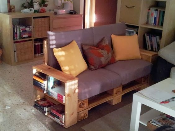 Diy c mo hacer un sof con palets x4duros pins for - Sofas con palets ...