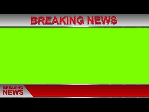 Breaking News 5 Green Screen 1080p Royalty Free Youtube Greenscreen Youtube Banner Design Green Screen Video Backgrounds