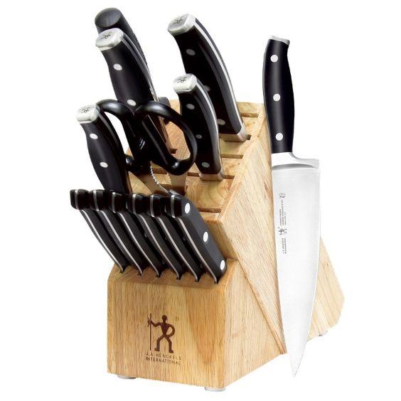 Henckels Premio 14-pc. Metal Cap Knife Set