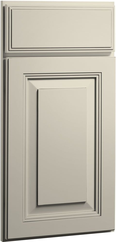 The Carlton Painted Linen Bisque Glaze's rich detailing reflects the fine craftsmanship in this elegant raised panel door with unique waterfall edge profile. Carlton breaks down all geographical boundaries by blending with any décor.  View the Carlton door style here: http://www.cliqstudios.com/raised-panel-cabinets