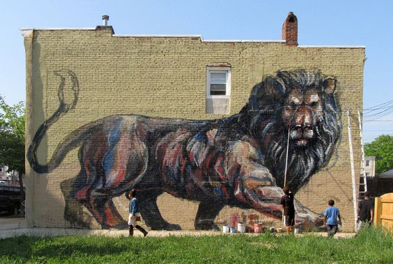 Runners photos and lion on pinterest for Baltimore mural program