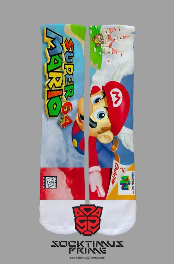 Mario 64  Mario  Custom Socks  Socktimus Prime by SocktimusPrime