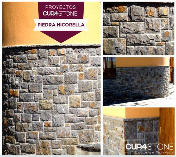 Piedra nicorella cupa stone para una casa familiar en - Piedra para fachada exterior ...