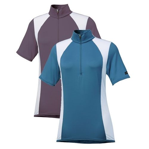 Kerrits Ice Fil Prism Riding Top - Ice Fil technology lowers your skin's temperature up to 5 degrees with UPF 30+ sun protection, while sweat is quickly absorbed and effectively converted to cooling energy.