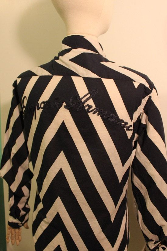 Fabulous Emporio Armani Cotton Chevron Print Shirt  by FeralVintage