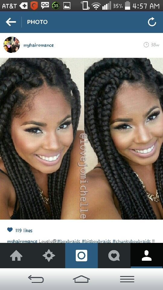Chunky box braids gorgeous! ! Or maybe these Chunky oness