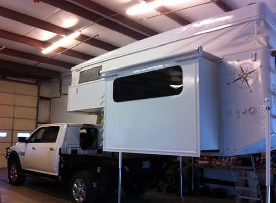 Phoenix Flatbed Pops Up And Slides Out Truck Camper Camper Pop