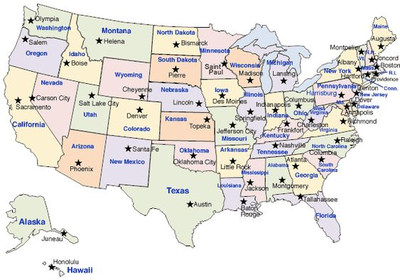 EABurke Home Us Map With States Capitals And Abbreviations Quiz