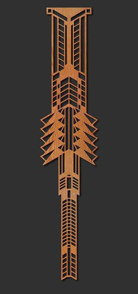 Frank lloyd wright lloyd wright and laser cut wood on pinterest Frank lloyd wright the rooms interiors and decorative arts