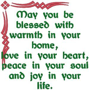 Celtic Blessing #2   Machine Embroidery Design