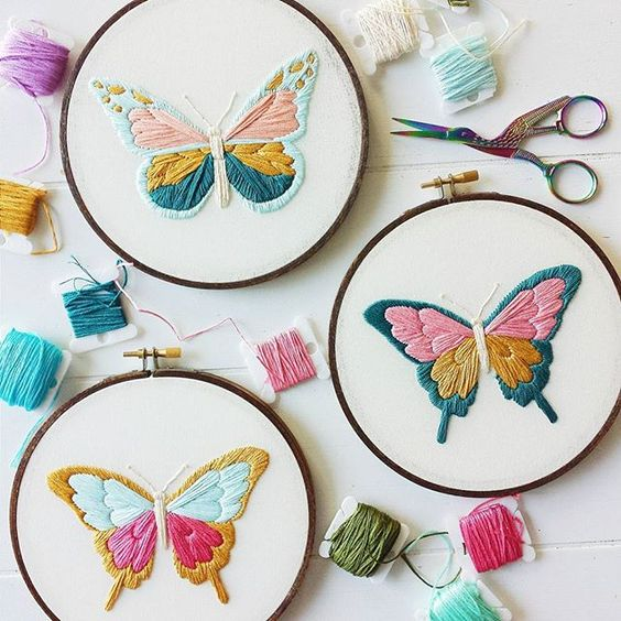 Embroidery patterns and butterflies on pinterest