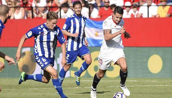 Vitolo en el Sevilla 2 - Alaves 1
