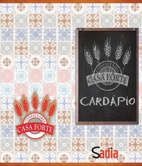 Cardápio  Cliente: Confeitaria Casa Forte