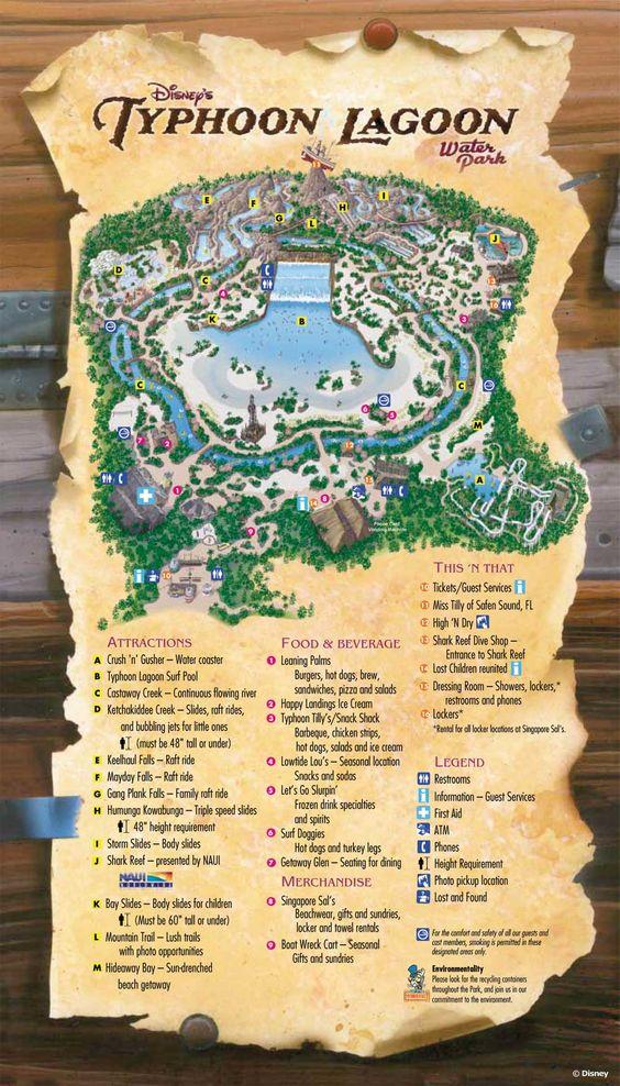 Disney's Typhoon Lagoon Water Park map | Disney movies, Online Disney movies, New Disney Movies