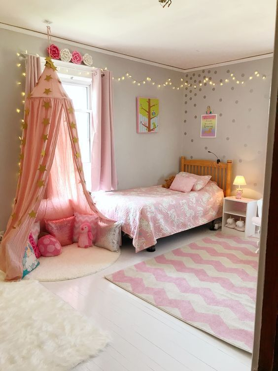 Pin On Decoration Bedroom Pink girls bedrooms ideaspink girls