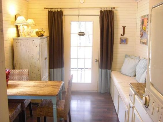 Tiny House Interior with WD Shotgun Shack Family sells house