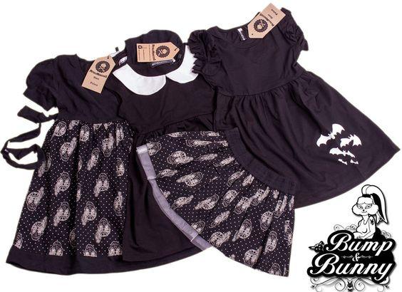 Six Bunnies Whole Lotta Skulls Short Pyjama Set Baby Cute Sleepwear Gothic Punk