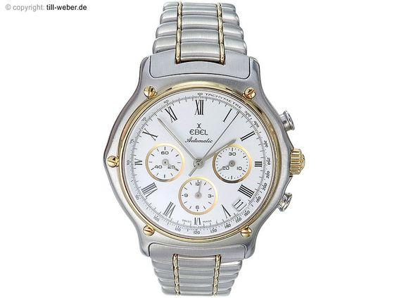 Ebel  1911  Chronograph Stahl Gold 2980