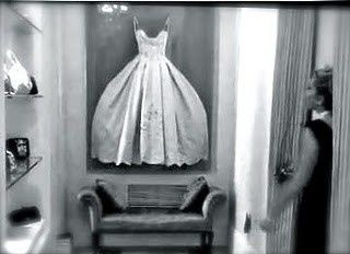 What to do with your old wedding dress?  Put it in a box frame and make a statement with it...perfect for my future walk in closet